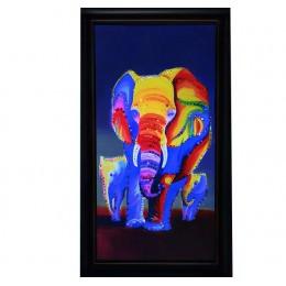 "Картина Swarovski ""Слоны 1"""