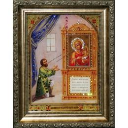 """Икона Сваровски """" Божией Матери Нечаянная радость"""""""