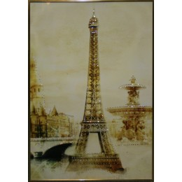 "Картина с кристалами Swarovski ""Эйфелева башня"""