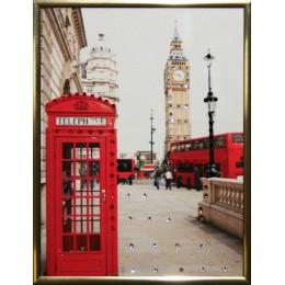 "Картина с кристалами Swarovski ""Англия малая"""