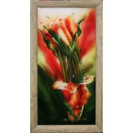 """Картина Swarovski """"Каллы оранжевые малые"""""""