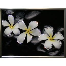 "Картина Swarovski ""Белые цветы"""