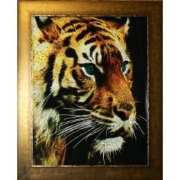 """Картина с кристалами Сваровски """"Огненный тигр"""""""