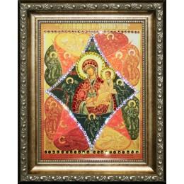 """Икона с кристалами Swarovski """" Божией Матери  Неопалимая купина """""""