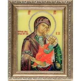 """Икона с кристалами Swarovski """" Божией Матери Утоли мои печали"""""""