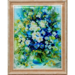 "Картина с кристалами Swarovski ""Натюрморт ""Дыхание июня"""""