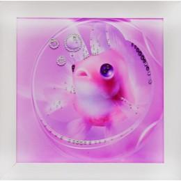 """Картина с кристалами Swarovski """"Рыба моя"""""""