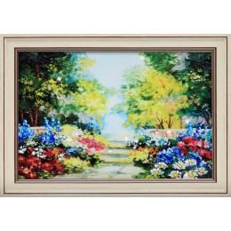 "Картина с кристалами Swarovski ""Цветущий сад"""