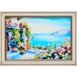 """Картина Swarovski """"Греческий дворик"""""""
