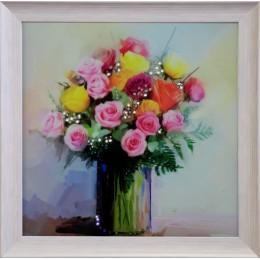 """Картина Swarovski """"Розовый комплимент"""""""