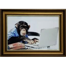 """Картина Swarovski """"Деловая обезьяна"""""""