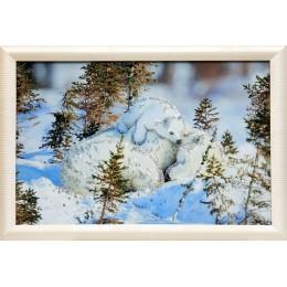 "Картина с кристалами Swarovski ""Белые медведи"""
