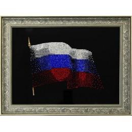 """Картина Swarovski """"Флаг России"""""""