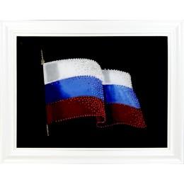 """Картина с кристалами Сваровски """"Флаг России 2"""""""