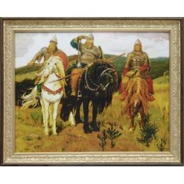 "Картина с кристалами Swarovski ""Три Богатыря"""