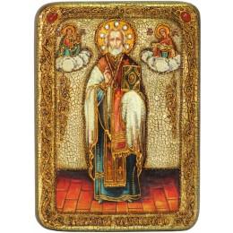 """Подарочная икона """"Святитель Николай, архиепископ Мир Ликийский (Мирликийский), чудотворец"""""""