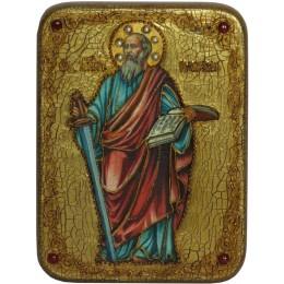 """Подарочная икона """"Первоверховный апостол Павел"""" полу-аналойного размера"""