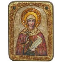 """Подарочная икона  """"Святая  Мученица Наталия Никомидийскаяна мореном дубе"""