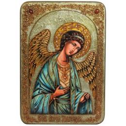 """Большая подарочная икона """"Ангел Хранитель"""" на дубе"""