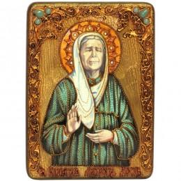 Подарочная икона Блаженная старица Матрона Московская