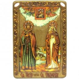 Икона подарочная большая Петр и Февронья