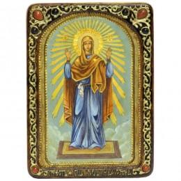 Живописная икона Образ Божией Матери «Нерушимая Стена» на кипарисе