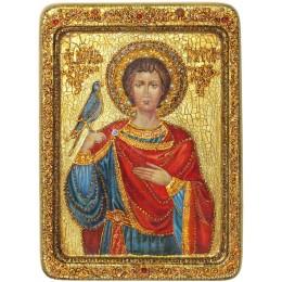 """Живописная икона """"Святой мученик Трифон"""" на кипарисе"""