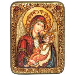 """Икона подарочная """"Образ Божией Матери """"Утоли моя печали"""" на мореном дубе"""