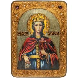 """Подарочная икона """"Святая великомученица Екатерина"""" аналойного размера"""