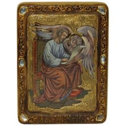"Живописная икона ""Святой апостол и евангелист Марк"" на кипарисе"