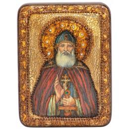 """Подарочная икона """"Преподобный Илия Муромец, Печерский"""" полу-аналойного размера"""