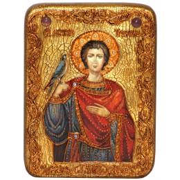 """Подарочная икона """"Святой мученик Трифон"""" на мореном дубе"""
