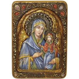 """Живописная икона """"Святая праведная Анна, мать Пресвятой Богородицы"""" на кипарисе"""