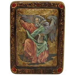 """Живописная икона """"Святой апостол и евангелист Иоанн Богослов"""" на кипарисе"""