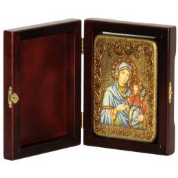 """Подарочная икона """"Святая праведная Анна, мать Пресвятой Богородицы"""" на мореном дубе"""