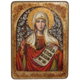 """Подарочная икона """"Святая мученица Татиана"""" на мореном дубе"""