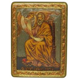 """Подарочная икона """"Святой апостол и евангелист Матфей"""" на мореном дубе"""