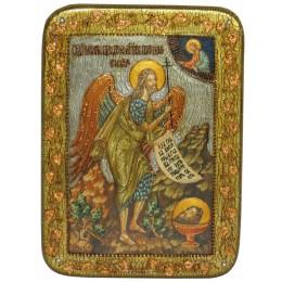 """Икона подарочная """"Пророк и Креститель Иоанн Предтеча"""" на мореном дубе"""