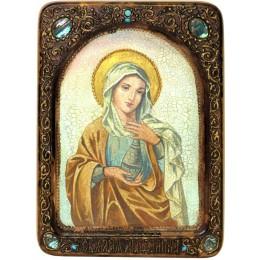 """Живописная икона """"Святая Равноапостольная Мария Магдалина"""" на кипарисе"""