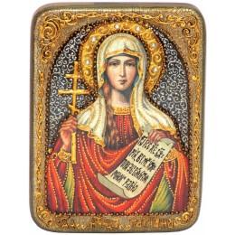 """Икона подарочная """"Святая мученица Татиана"""" на мореном дубе"""