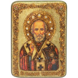 """Икона подарочная """"Святитель Николай, архиепископ Мир Ликийский (Мирликийский), чудотворец"""""""