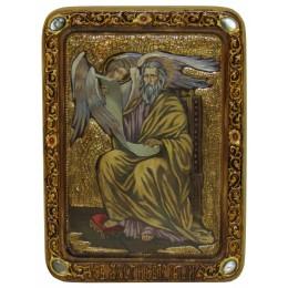 "Живописная икона ""Святой апостол и евангелист Матфей"" на кипарисе"