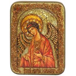 """Подарочная икона """"Ангел Хранитель"""" полу-аналойного размера"""