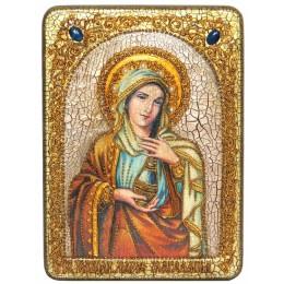 """Подарочная икона """"Святая Равноапостольная Мария Магдалина"""" на мореном дубе"""