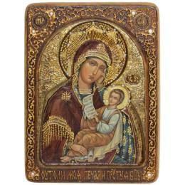 """Живописная икона """"Образ Божией Матери """"Утоли моя печали"""" на кипарисе"""