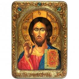 Икона живописная Господь Вседержитель на кипарисе