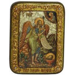 """Подарочная икона """"Пророк и Креститель Иоанн Предтеча"""" на мореном дубе"""