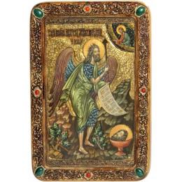 """Живописная икона """"Пророк и Креститель Иоанн Предтеча"""" на кипарисе"""