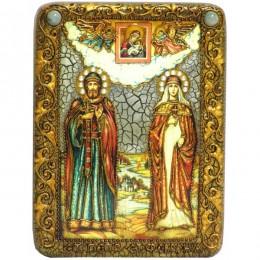 Икона подарочная Петр и Февронья
