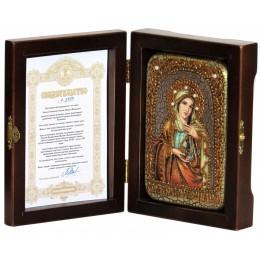 """Настольная икона """"Святая Равноапостольная Мария Магдалина"""" на мореном дубе"""